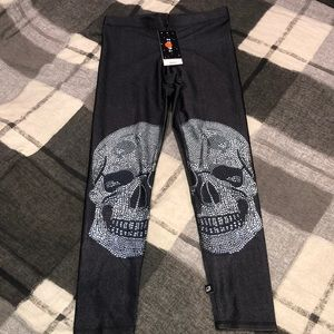 💋 Zara Terez Stretch Skull Black Leggings